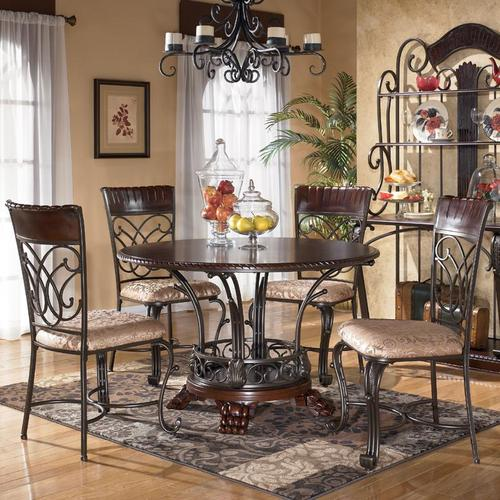 Alyssa 5-Piece Round Dining Table \u0026 Side Chair Set & Ashley Furniture Alyssa 5-Piece Round Dining Table \u0026 Side Chair Set