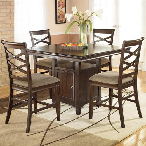Ashley furniture hayley 5 piece contemporary counter for 32 wide dining table