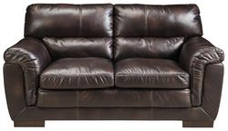 Zelladore - Canyon Contemporary Faux Leather Loveseat