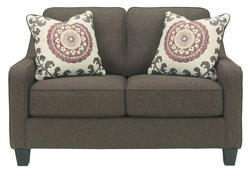 Dinelli Contemporary Loveseat with Track Arms
