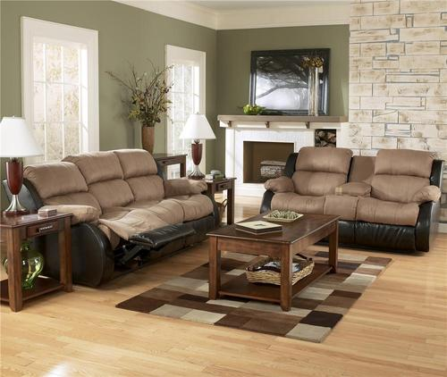 Ashley Furniture Presley Cocoa Reclining Living Room Group