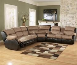 Presley - Cocoa L-Shaped Sectional Sofa with Full-Size Sleeper