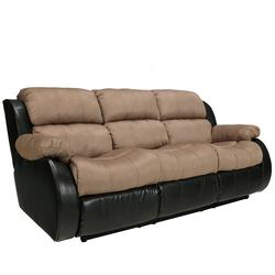 Presley - Cocoa Casual Reclining Sofa with Pillow Arms