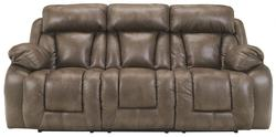 Loral - Sable Contemporary Faux Leather Reclining Sofa