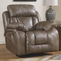 Loral - Sable Contemporary Faux Leather Swivel Rocker Recliner