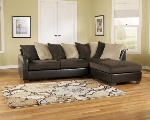 Ashley Furniture Sectional Chocolate ashley furniture gemini - chocolate contemporary faux leather