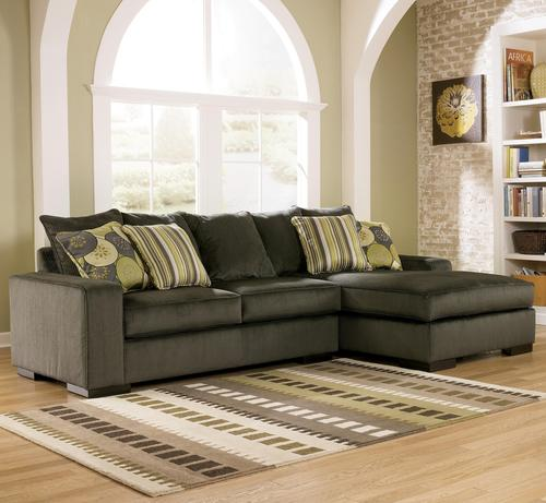 Freestyle - Pewter Two Piece Sectional Sofa with Right Facing Chaise : ashley sofa sectional - Sectionals, Sofas & Couches