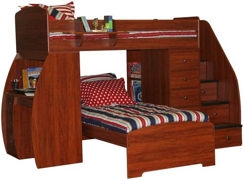 Berg Space Saver Twin Over Twin Bunk Bed With Desk Chest