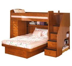 Space Saver Twin Over Full Bunk Bed with Chest