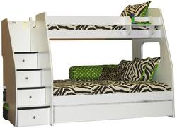 Enterprise Twin Over Full Bunk Bed With Trundle and Hanging Shelf