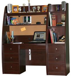 Enterprise Youth Desk and Hutch With Storage Pier