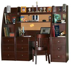 Enterprise Youth Desk and Hutch With Storage Piers