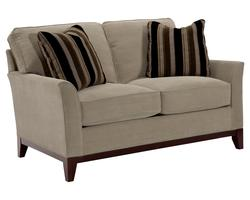 Perspectives Loveseat with Exposed Wood Tapered Legs
