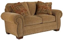 Cambridge Transitional Loveseat with Nail Head Trim