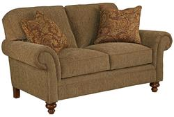 Larissa Quick Ship Traditional Loveseat with Rolled Arms
