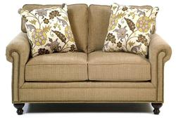 Harrison Traditional Loveseat with Nail Head Trim