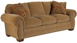 Cambridge Quick Ship Transitional Sleeper Sofa with Nail Head Trim