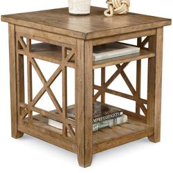 Broyhill Furniture Frasier Square Cocktail Table with Casters and Shelf