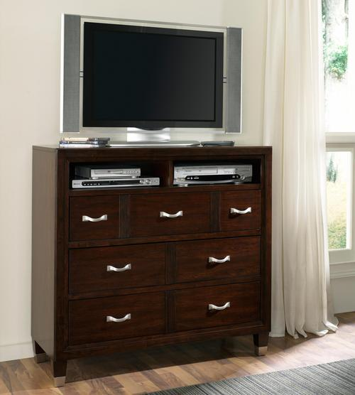 Broyhill furniture eastlake 2 media chest with 3 drawers for Eastlake storage