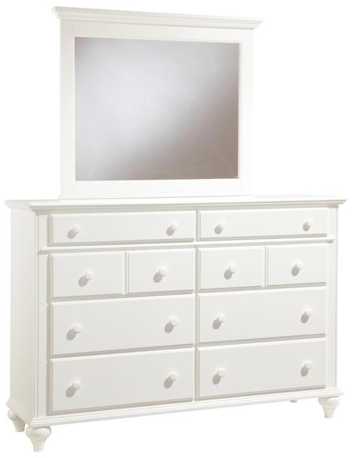 broyhill furniture hayden place 8 drawer dresser and landscape mirror