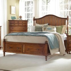 Broyhill Furniture Hayden Place Cal King Headboard And Storage Footboard Sleigh Bed