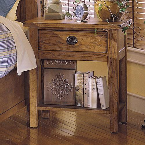Merveilleux Attic Heirlooms Nightstand With 1 Drawer And 1 Shelf