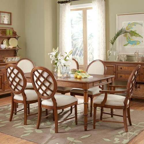 Broyhill furniture samana cove 7 piece adjustable height for Broyhill dining room furniture