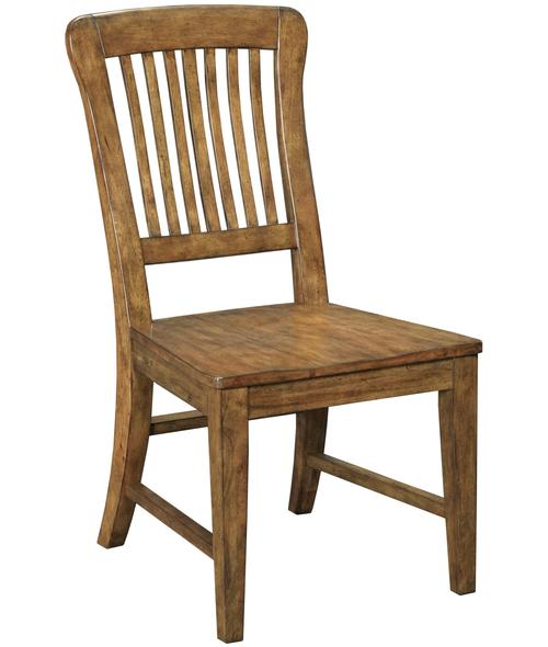 broyhill furniture new vintage school house wood seat side chair