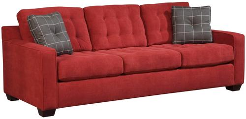 Broyhill furniture tribeca contemporary three seat sofa for Broyhill chaise lounge cushions