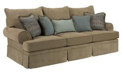 Helena Traditional Skirted Sofa with Rolled Arms