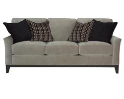 Perspectives Stationary Sofa with Exposed Wood Tapered Legs