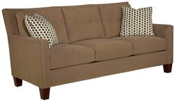 Jevin Contemporary Sofa with Tufted Pillow Back