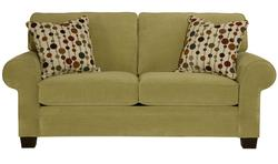 Choices Upholstery 79 Inch Apartment Sofa with Sock Arm, Boxed Border Semi-Attached Back & Wedge Foot Base