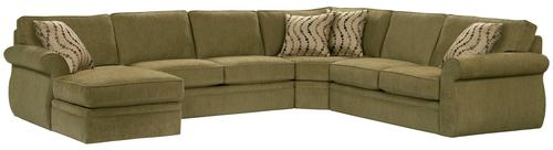 Broyhill furniture 6170 veronica chaise sectional sofa for Broyhill chaise lounge