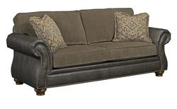 Laramie Traditional Stationary Sleeper Sofa with Nailhead Trim