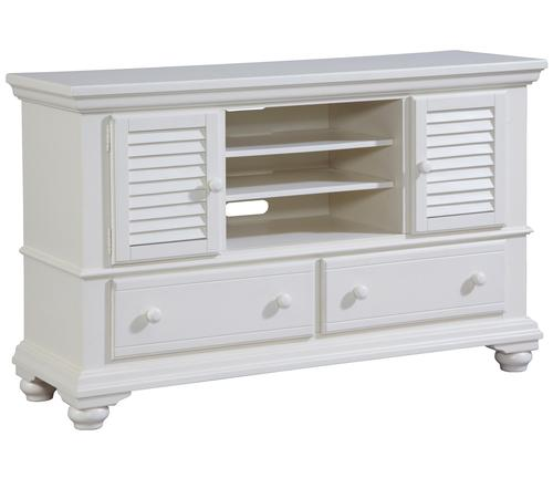 Broyhill Furniture Seabrooke 2 Door Entertainment Console With Shutter Detail