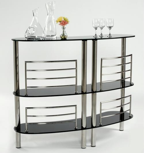 chintaly imports soho bar w three glass shelves. Black Bedroom Furniture Sets. Home Design Ideas