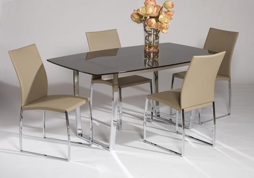 Marcy 5 Piece Glass Top Dining Set