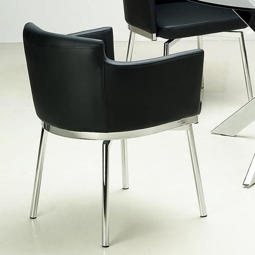 Chintaly imports dusty upholstered bucket side chair with for Bucket dining room chairs