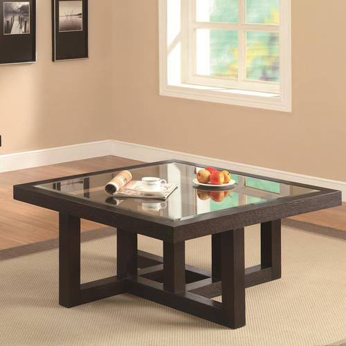 Coaster occasional group contemporary coffee table with for Glass top occasional tables