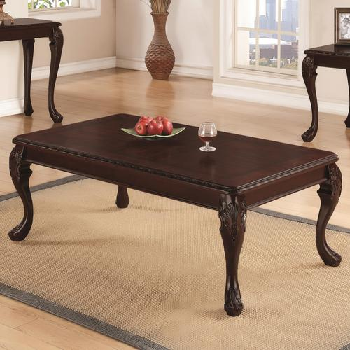 Coaster Occasional Group Traditional Detailed Coffee Table