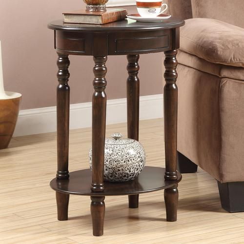 oval accent table metallic accent tables oval table in cherry finish coaster