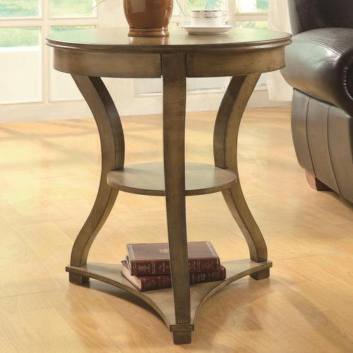 Accent Tables Round Antique Pine Accent End Table