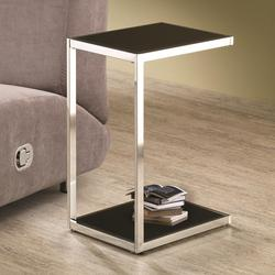 ... Accent Tables Rectangular Snack Table With Reversible Black U0026 White  Shelves
