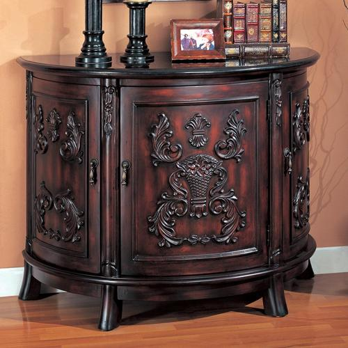 Accent Cabinets Demilune Bombe Chest