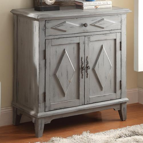 Coaster Accent Cabinets Distressed Blue Accent Cabinet