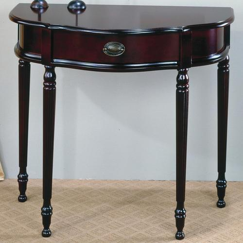 Accent Tables Curved Entry Table With Front Storage Drawer