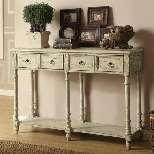 Accent Tables Vintage Console Table With 2 Drawers