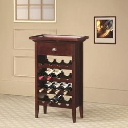 Accent Racks 16 Bottle Wine Rack with Serving Tray Top