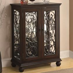 Accent Racks 2 Door Wine Rack with Metal Scroll Accents